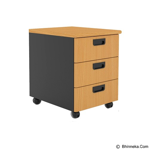 PRISSILIA Necro Trolley 3 Drawers [MPM-03] - Beech (Merchant) - Drawer