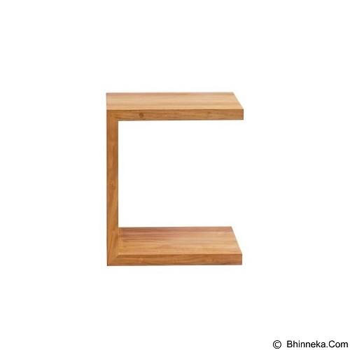 PRISSILIA Pacman Pine Side Table (Merchant) - Meja Ruang Tamu