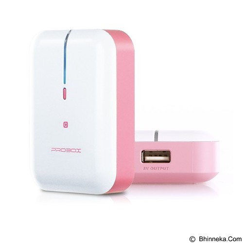 PROBOX Mini Series [HE6-52UIC] Powerbank 5200mAh - Pink - Portable Charger / Power Bank