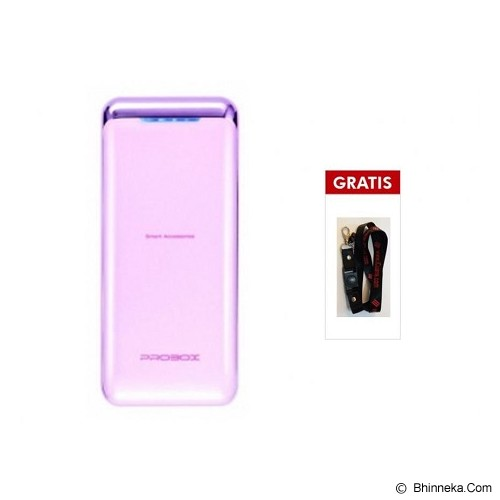 PROBOX Powerbank 5200mAh [HE1-52U1] - Pink (Merchant) - Portable Charger / Power Bank