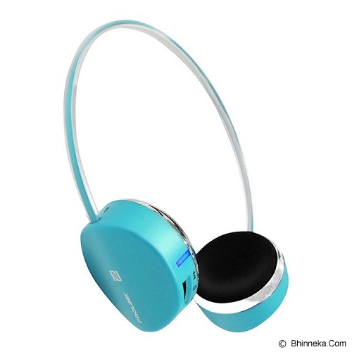 PROLINK Fervor Basic Super Slim Headset Bluetooth Stereo [PHB6001E] - Blue - Headset Bluetooth