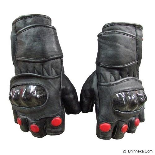 PROTEC Sarung Tangan Kulit Half Finger - Hitam - Sarung Tangan Motor