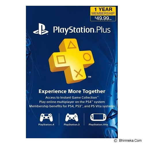 SONY PlayStation Plus 12 Bulan US Digital Code - Voucher Games