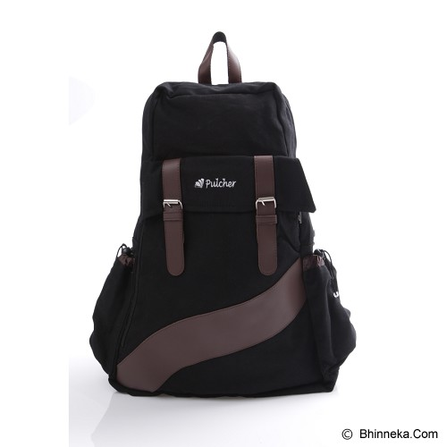 PULCHER Backpack Ransel Vorto - Black - Backpack Wanita