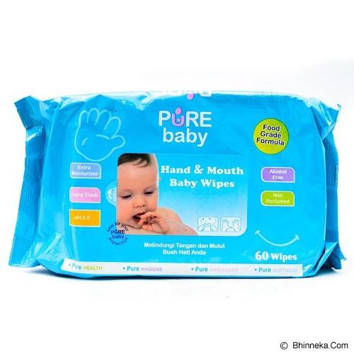 PURE BABY Hand & Mouth Wipes Aloe Vera 60's - Baby Wipe / Tissue Basah