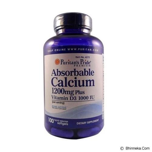 PURITANS PRIDE Absorbable Calcium 1200mg + Vit D 1000 IU 100 Softgels [PPAC] - Suplement Penambah Daya Tahan Tubuh