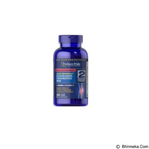 PURITANS PRIDE Triple Strength Glucosamine & MSM 180 Capsul (Merchant) - Suplement Peningkat Metabolisme Tubuh