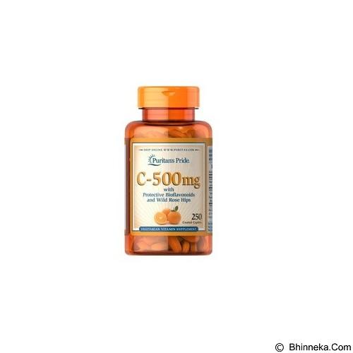 PURITANS PRIDE Vitamin C-500 mg with Bioflavonoids & Rose Hips (Merchant) - Suplement Penambah Daya Tahan Tubuh