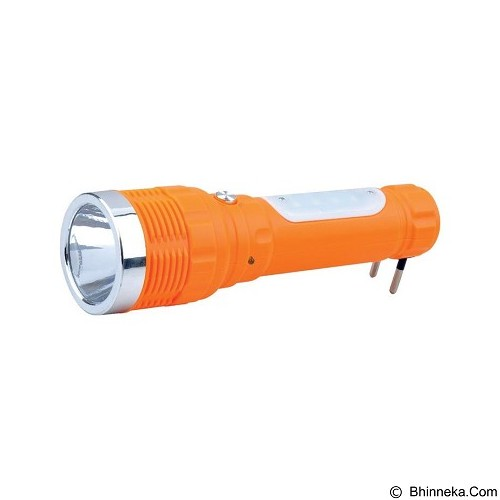 PUSH ON LED Flash Light [FL-1108] - Orange (Merchant) - Senter / Lantern