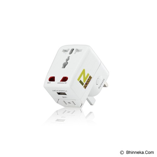 PUWEI UTA-03 (1 USB) - White - Universal Travel Adapter