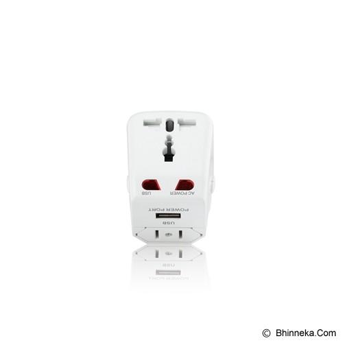 PUWEI UTA-03 (1 USB) - White - Universal Travel Adapter