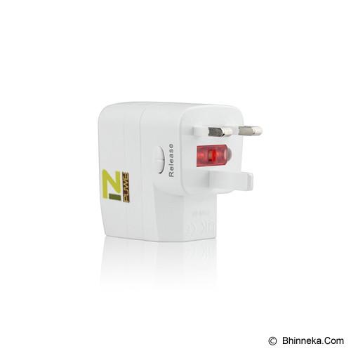 PUWEI UTA-03 (2 USB) - White - Universal Travel Adapter