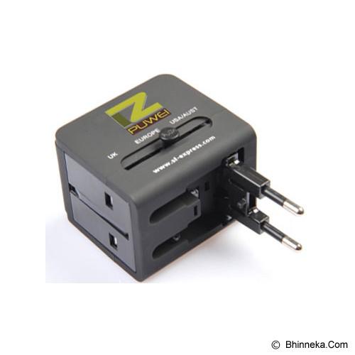 PUWEI UTA-13 (2 USB Output 5V1A)- Black - Universal Travel Adapter