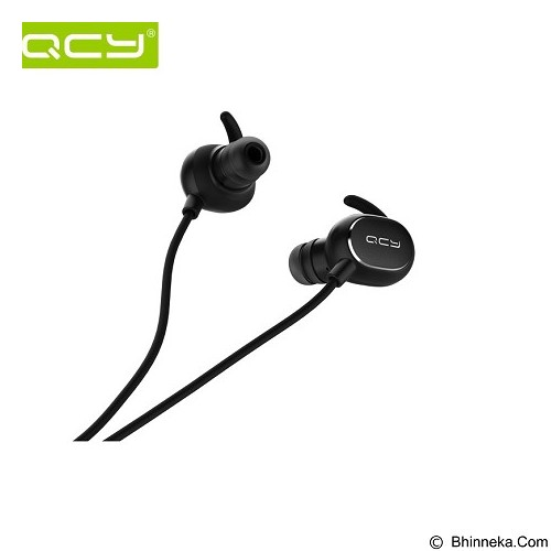 QCY Earphone Bluetooth Ultra Lightweight Sweatproof Sports [QY19] - Black - Headset Bluetooth