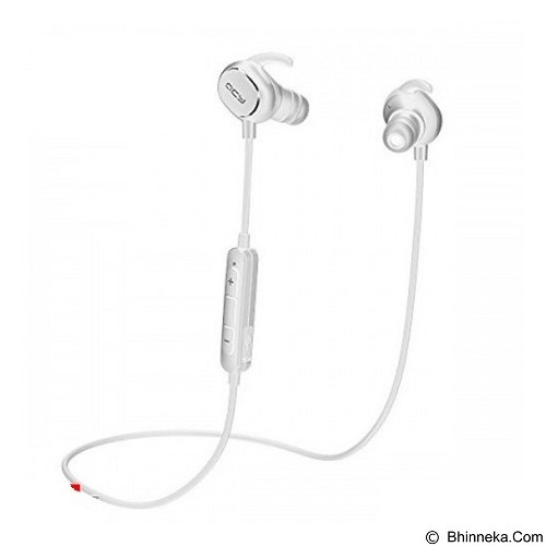 QCY Earphone Bluetooth Ultra Lightweight Sweatproof Sports [QY19] - White - Headset Bluetooth