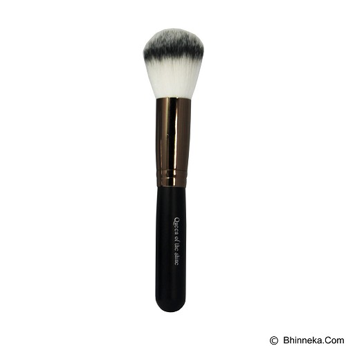 QUEEN OF THE SHINE Kuas Powder Brush [KB010] - Bronze (Merchant) - Kuas Make-Up