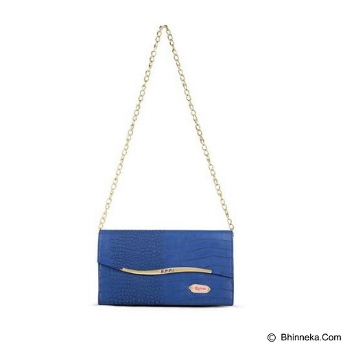 QUINTA Golden Flip Croco - Blue - Shoulder Bag Wanita