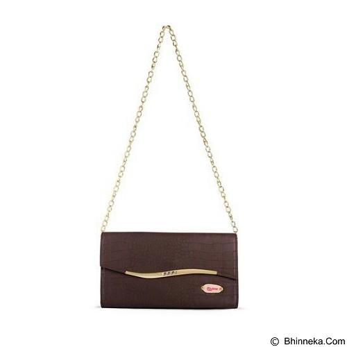 QUINTA Golden Flip Croco - Dark Brown - Shoulder Bag Wanita