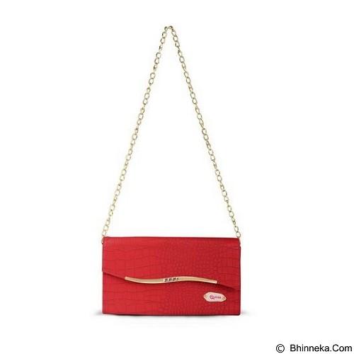 QUINTA Golden Flip Croco - Red - Shoulder Bag Wanita