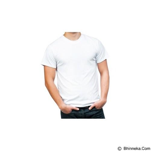 RAJA POLOS Oneck Pendek Size L [KPP 01] - White - Kaos Pria