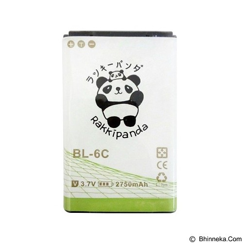 RAKKIPANDA Battery for Nokia BL-6C 2750 mAh - Handphone Battery