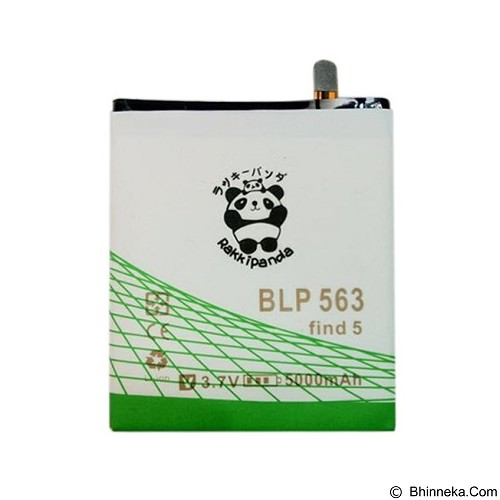 RAKKIPANDA Battery for Oppo Find 5 Mini 5000mAh [BLP-563] - Handphone Battery