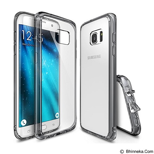 REARTH Case Ringke Fusion for Samsung Galaxy S7 Edge - Smoke Black - Casing Handphone / Case
