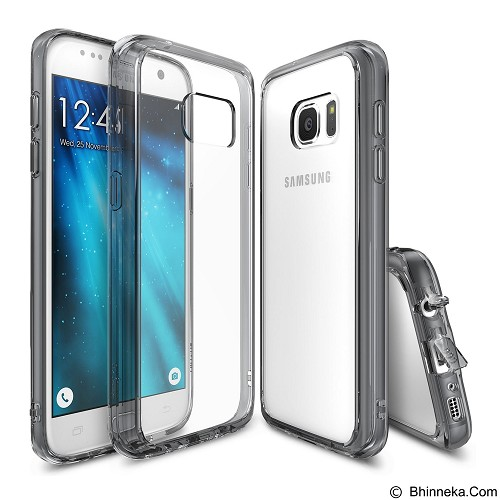 REARTH Case Ringke Fusion for Samsung Galaxy S7 - Smoke Black - Casing Handphone / Case