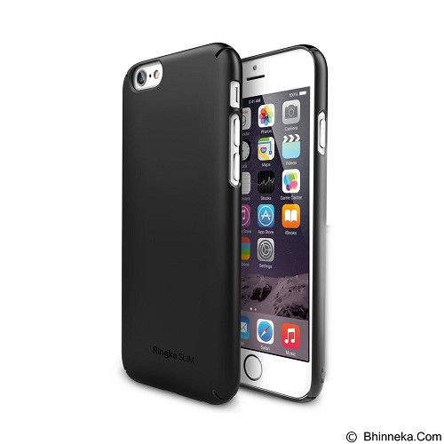REARTH Case Ringke Slim for Apple iPhone 6 / 6s - Black - Casing Handphone / Case