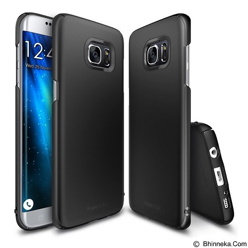 REARTH Case Ringke Slim for Samsung Galaxy S7 Edge - Black - Casing Handphone / Case