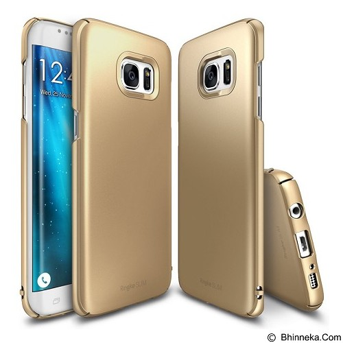 REARTH Case Ringke Slim for Samsung Galaxy S7 Edge - Royal Gold - Casing Handphone / Case