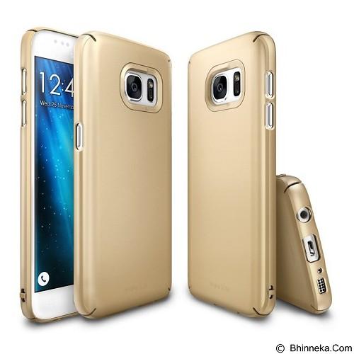 REARTH Case Ringke Slim for Samsung Galaxy S7 - Royal Gold - Casing Handphone / Case