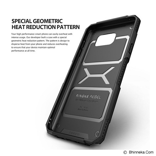 REARTH Ringke Rebel Galaxy Note 5 [RBSG001] - Black - Casing Handphone / Case