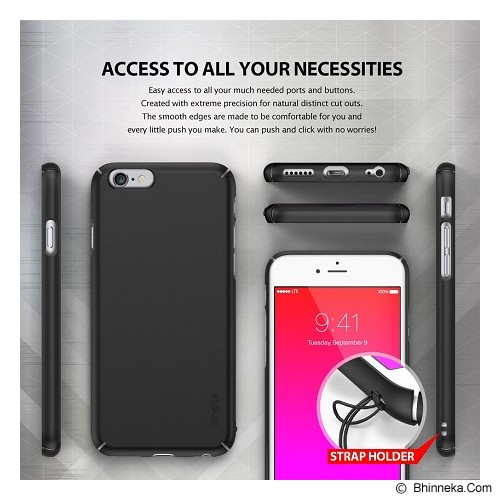 REARTH Ringke Slim iPhone 6S [RSAP060] - SF Black (Merchant) - Casing Handphone / Case