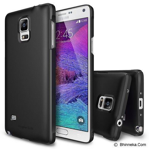 REARTH Samsung Galaxy Note 4 Case Ringke Slim - Black - Casing Handphone / Case