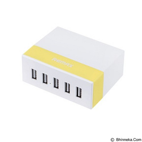 REMAX 2.4A 5 ports USB Charging Hub Youth - Yellow (Merchant) - Universal Charger Kit