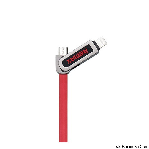 REMAX Armor 2 in 1 Cable Micro USB Lightning 2.1A - Red (Merchant) - Cable / Connector Usb