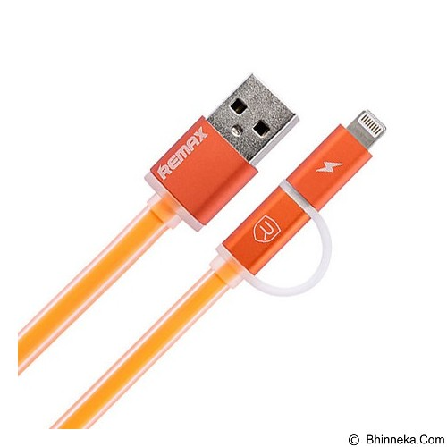 REMAX Aurora Cable Micro USB + iPhone 1M - Orange (Merchant) - Cable / Connector Usb