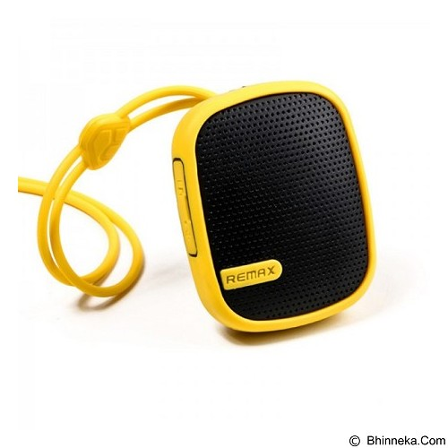 REMAX Bluetooth Speaker Mini [RM-X2] Yellow (Merchant) - Speaker Bluetooth & Wireless