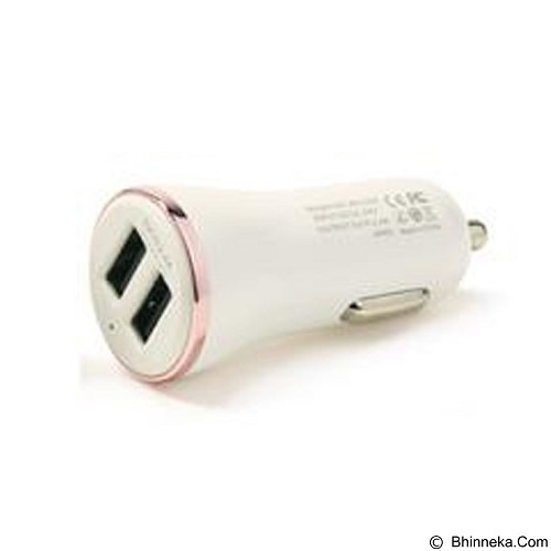 REMAX Car Charger Dolphin 3 Ports USB 3.4A - Rose (Merchant) - Car Kit / Charger