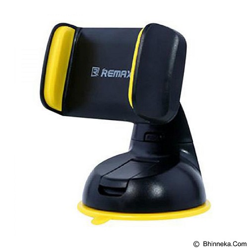 REMAX Car Suction Cup Smartphone Holder - Black/Yellow (Merchant) - Gadget Mounting / Bracket