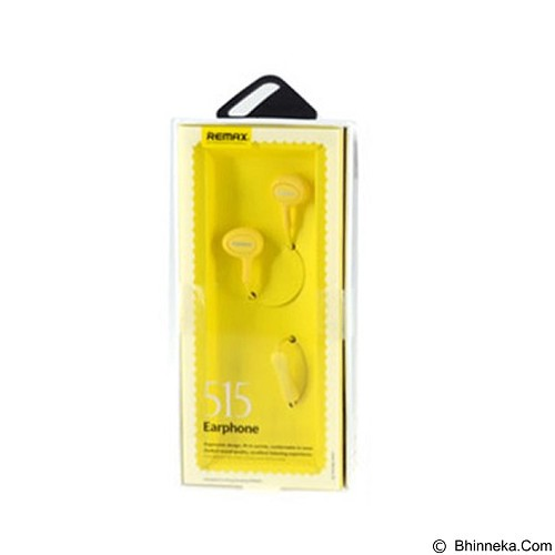 REMAX Earphone [RM515] - Yellow (Merchant) - Earphone Ear Monitor / Iem