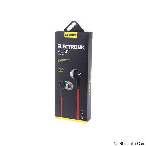 REMAX Earphone [RM535] - Red (Merchant) - Earphone Ear Monitor / Iem