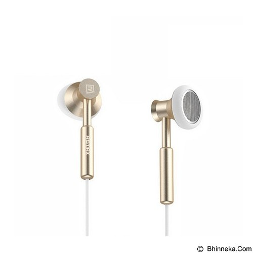 REMAX Earphone with Microphone Volume Control [RM-305M] - Gold (Merchant) - Earphone Ear Bud