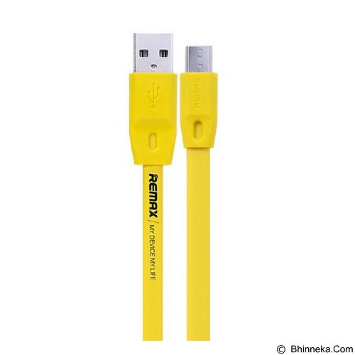 REMAX Full Speed Cable Micro USB 1M - Yellow (Merchant) - Cable / Connector Usb
