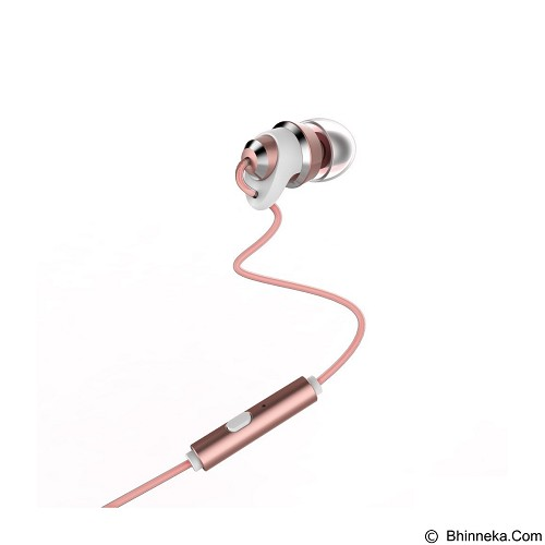 REMAX Metal Touching Earphone [RM-585] - Rose Gold (Merchant) - Car Kit / Charger