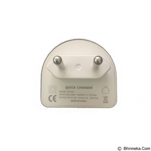 REMAX Moon Single Quick Charger 2.0A Efficient Fast Charging [RP-U13] (Merchant) - Cable / Connector Usb