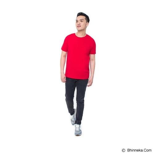 REXFORD Kaos Polos Pria Size XL [005-TS.001] - Red - Kaos Pria