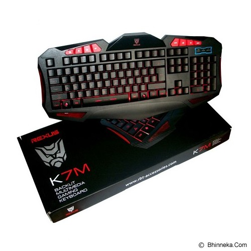 REXUS Backlight Gaming Keyboard [K7M] (Merchant) - Gaming Keyboard