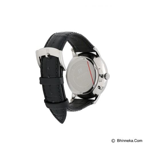 RHYTHM Jam Tangan Pria Leather [FI1607L 02] - Black - Jam Tangan Pria Casual